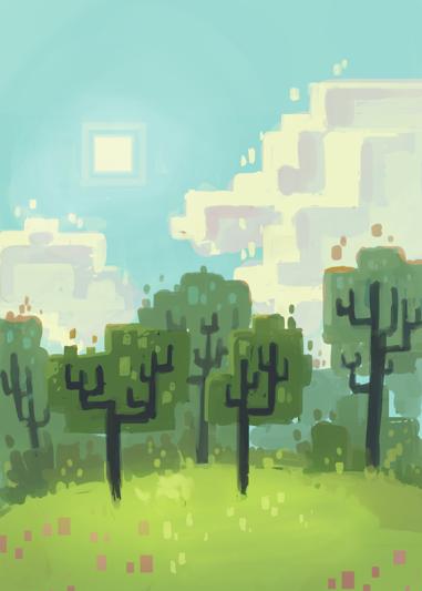 Concept art : la forêt