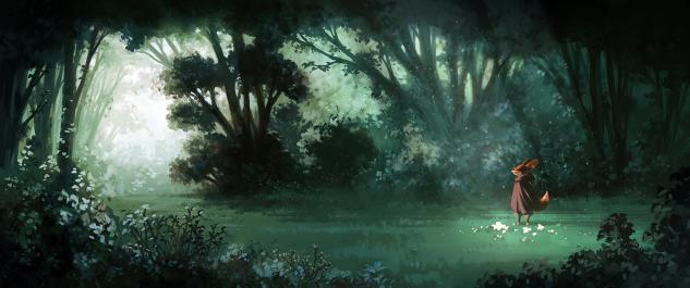 Concept art : la forêt profonde
