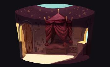 Concept art : la chambre de la princesse