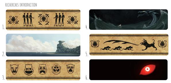 Storyboard pour l'introduction du jeu